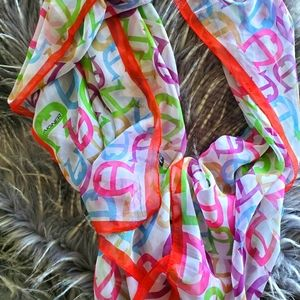 5/$40 Aigner monogrammed silk scarf